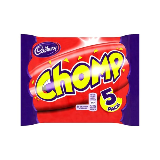 CADBURYS CHOMP (18 x 5 PACK)
