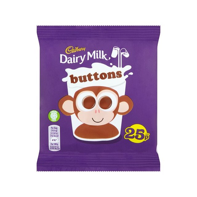 DAIRY MILK BUTTONS 60 SMALL BAGS