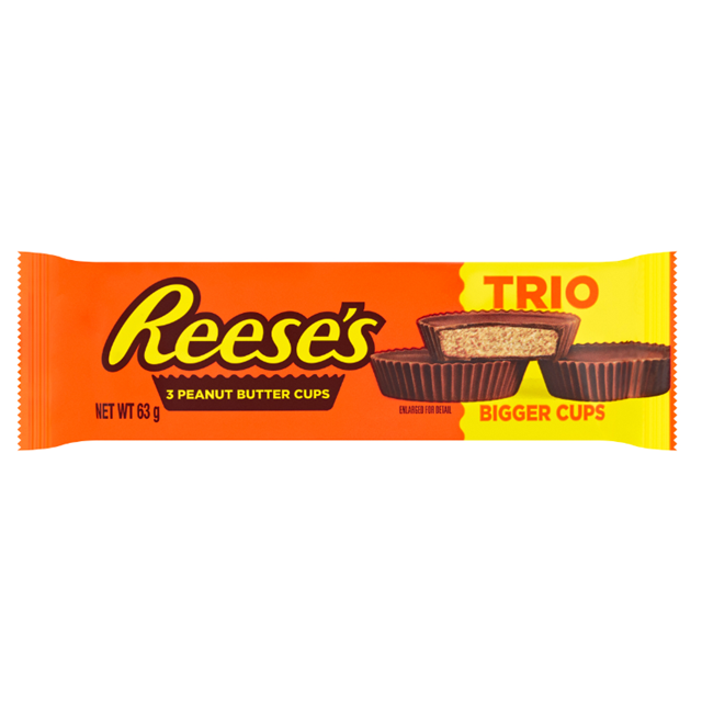 REESE'S PEANUT BUTTER CUP TRIO 63g (40 PACK)
