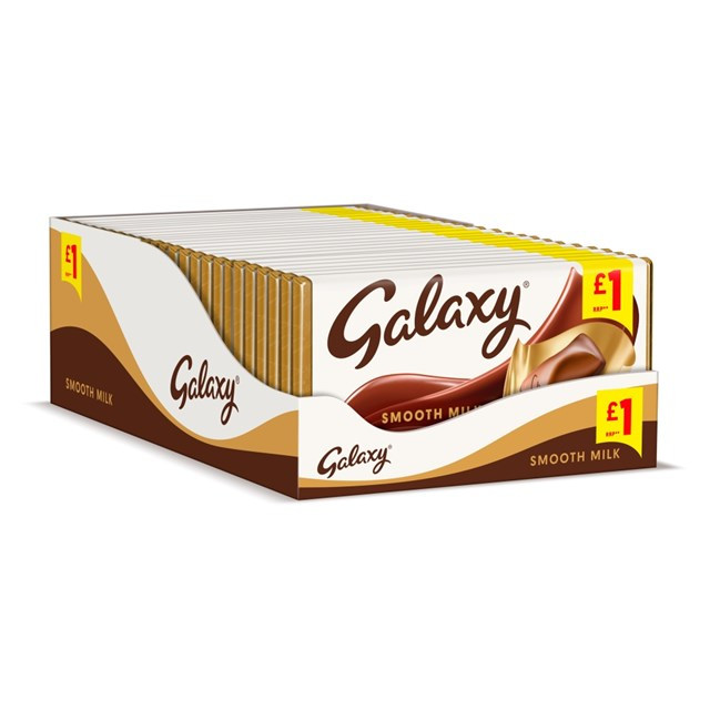 GALAXY SMOOTH MILK 110g (24 PACK)
