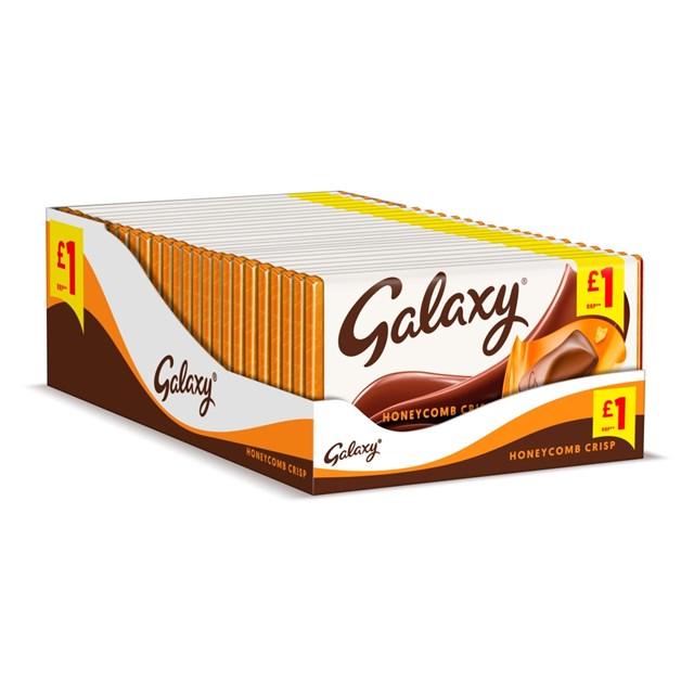 GALAXY HONEYCOMB CRISP 114g £1 (24 PACK)