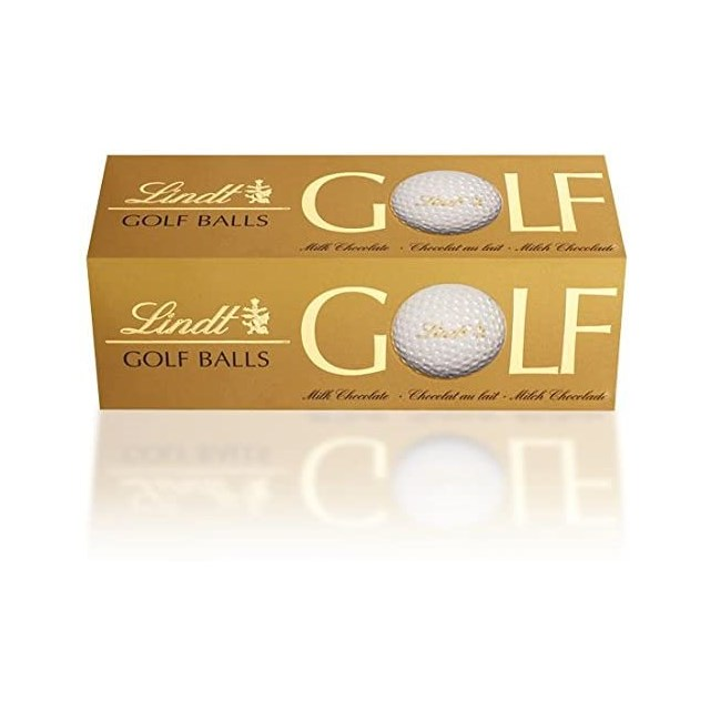 LINDT  MILK CHOCOLATE GOLF BALLS (10 X 3 PACK) 110G