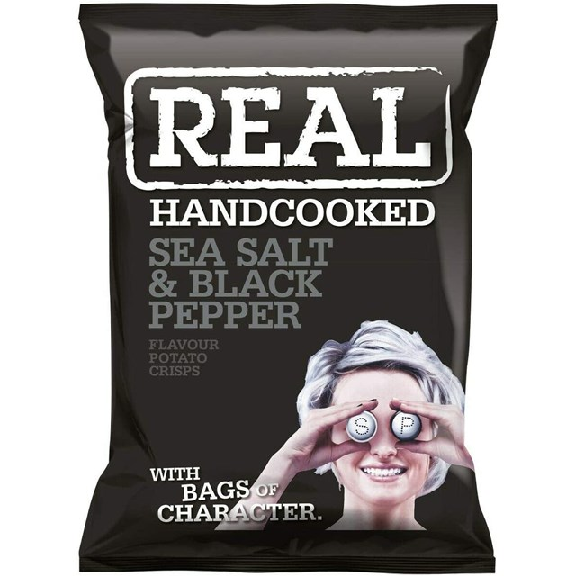 REAL CRISPS SEA SALT & BLACK PEPPER
