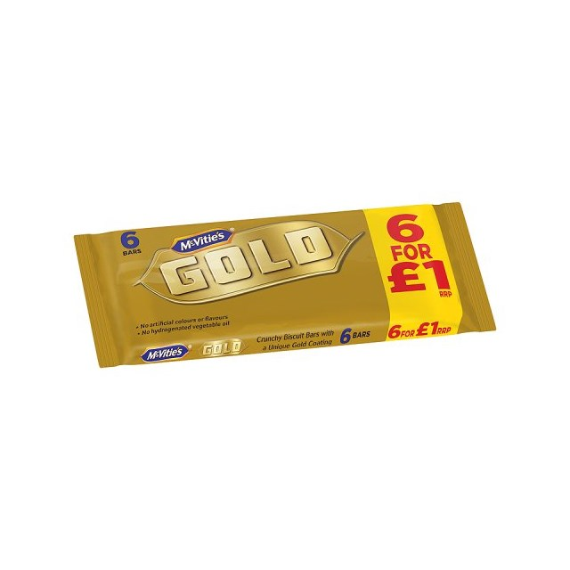 McVities Gold Bars £1 PM 6 Pack