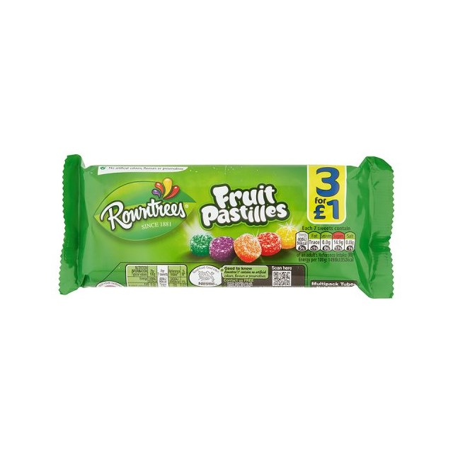 FRUIT PASTILLES £1 3PACK