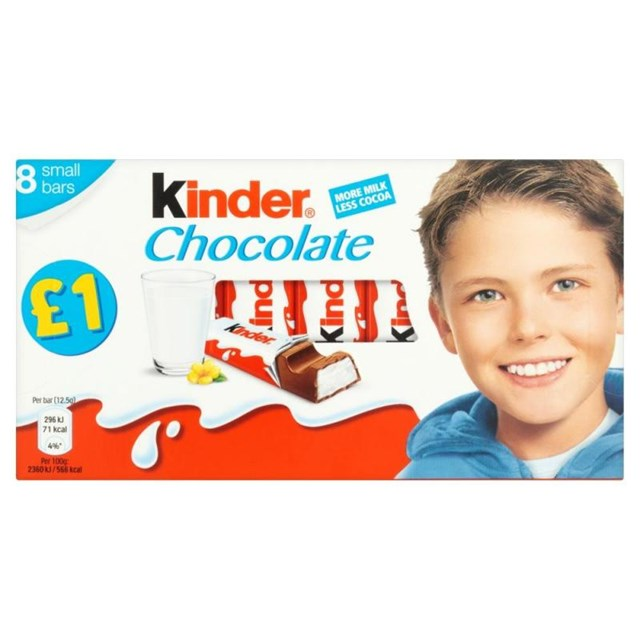 KINDER £1PM CHOCOLATE MULTIPACK