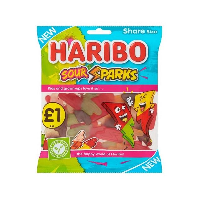 HARIBO £1 SOUR SPARKS 160g (12 PACK)