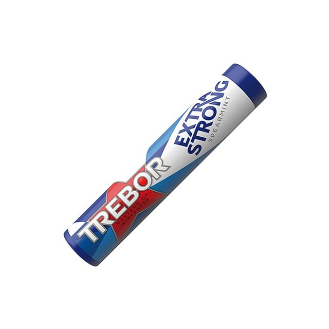 TREBOR EXTRA STRONG SPEARMINT BLUE