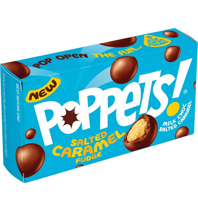 PAYNES POPPETS SALTED CARAMEL FUDGE 40g (36 PACK)
