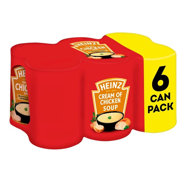 HEINZ CREAM OF CHICKEN SOUP 400g (6 PACK)