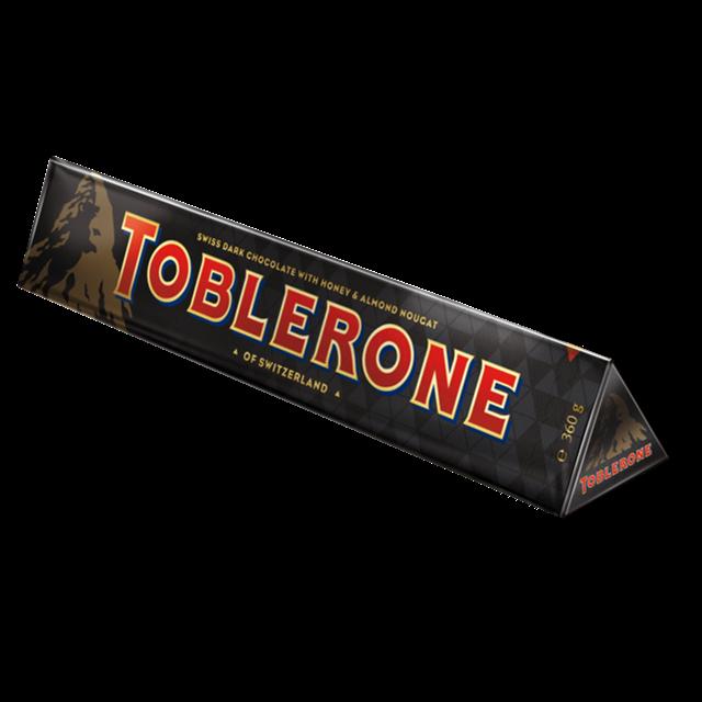 TOBLERONE DARK CHOCOLATE BAR 360g (10 BARS)