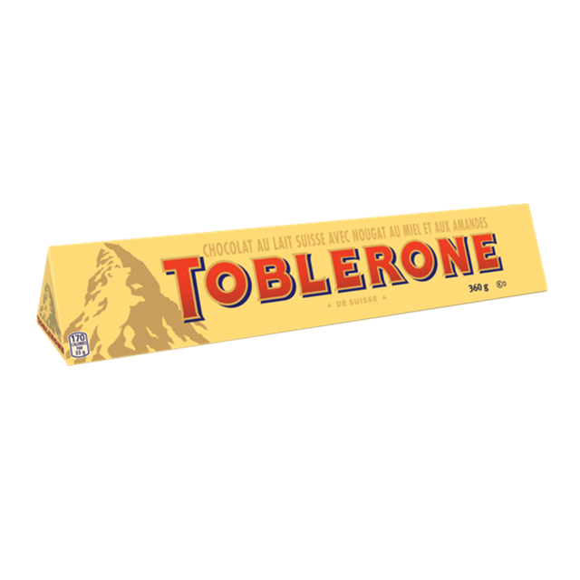 TOBLERONE MILK CHOCOLATE BAR 360g (10 BARS)