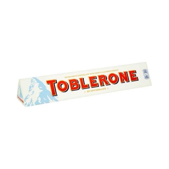 TOBLERONE WHITE CHOCOLATE BAR 360g (10 BARS)