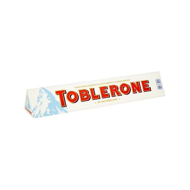 TOBLERONE WHITE CHOCOLATE BAR 360G
