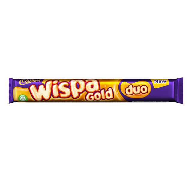 CADBURYS WISPA GOLD DUO 72g CHOCOLATE BAR (32 PACK)