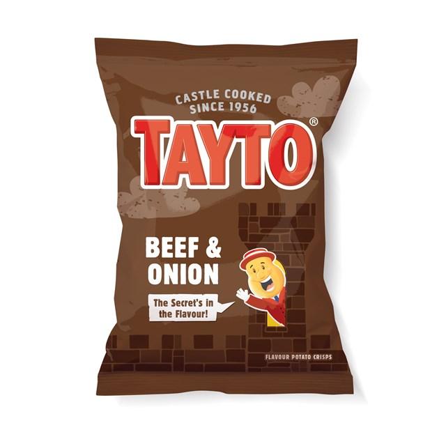 TAYTO BEEF & ONION 37.5g (32 BAGS)
