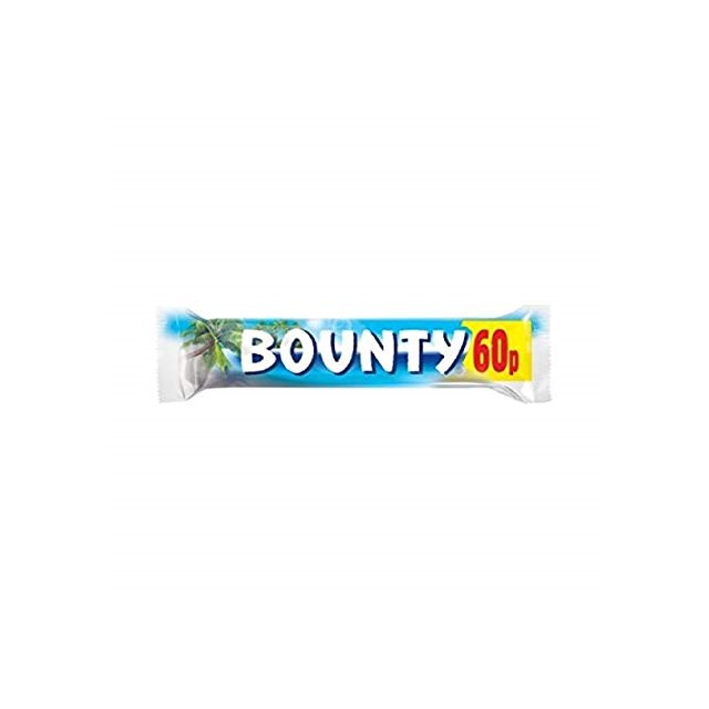 BOUNTY MILK CHOCOLATE 57g 60P (24 PACK)