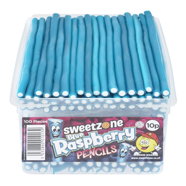 SWEETZONE TUBS PENCILS BLUE RASPBERRY