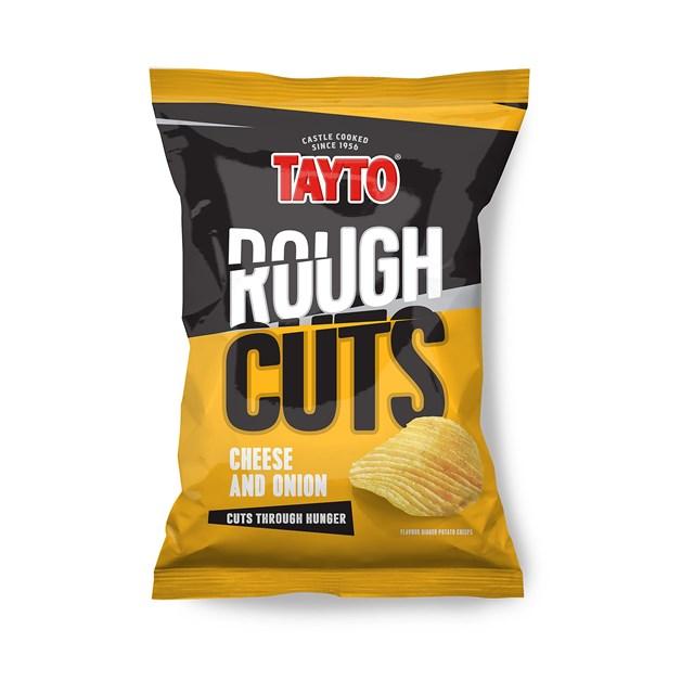 TAYTO ROUGH CUTS CHEESE & ONION 50g (36 BAGS)