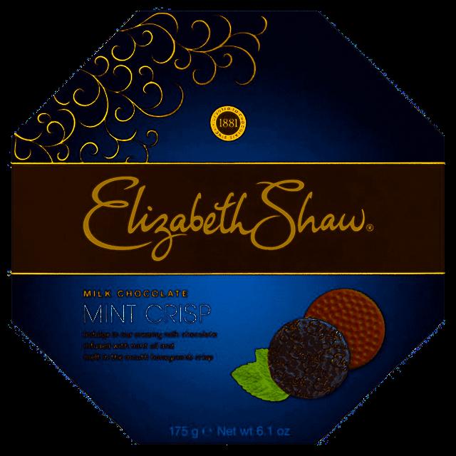 ELIZABETH SHAW MINT CRISP MILK CHOCOLATE 175g