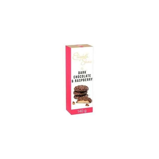 ELIZABETH SHAW DARK CHOCOLATE & RASPBERRY BISCUITS 140g