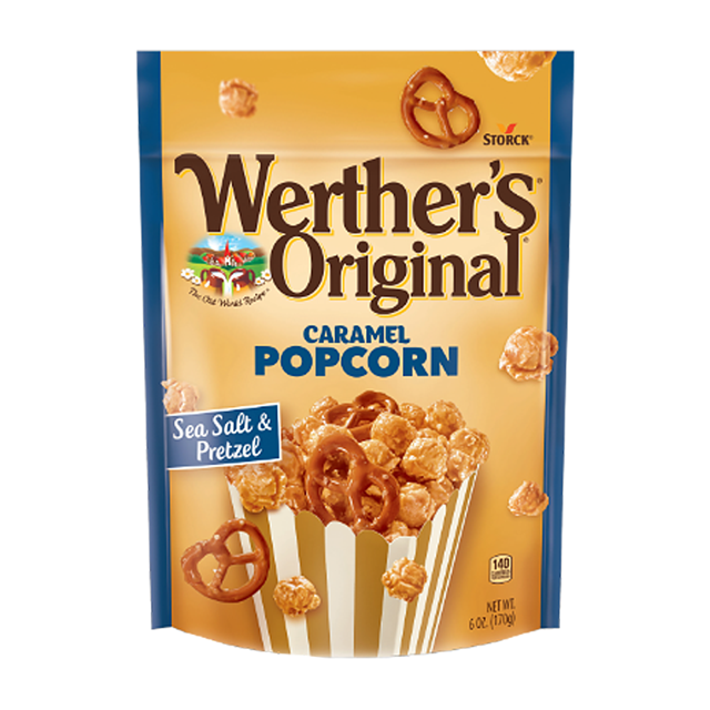 (GERMAN IMPORT) WERTHERS POPCORN PRETZEL 140g