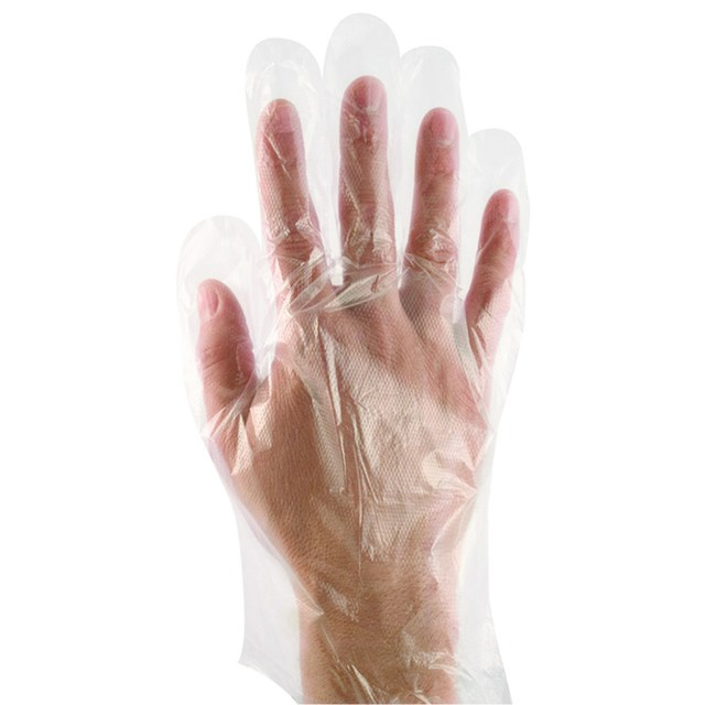 GLOVES CLEAR POLY LARGE