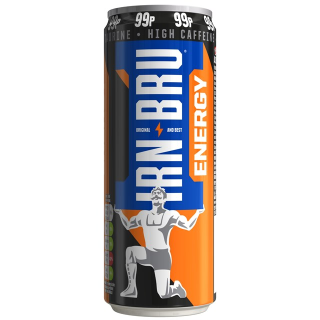 IRN BRU ENERGY DRINK 330ml 99p (12 PACK)