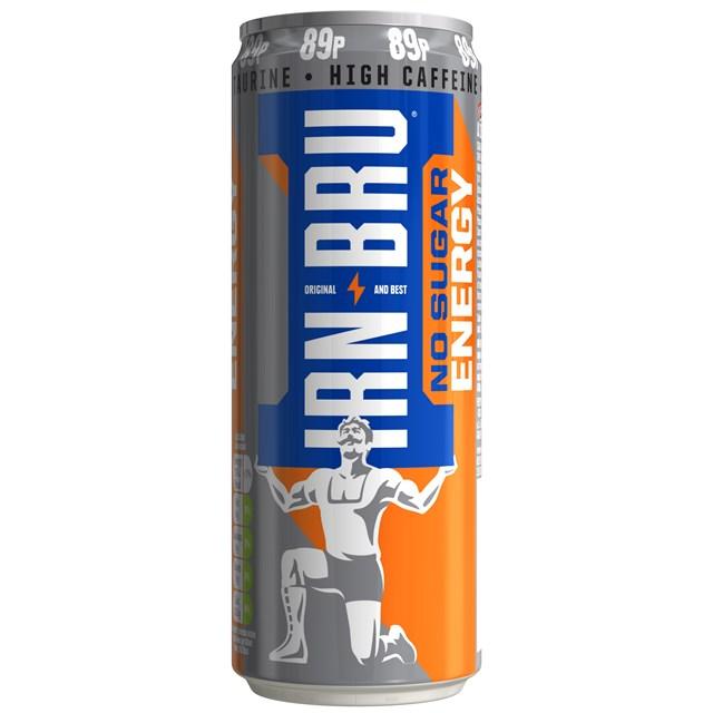 IRN BRU ENERGY DRINK NO SUGAR 89P