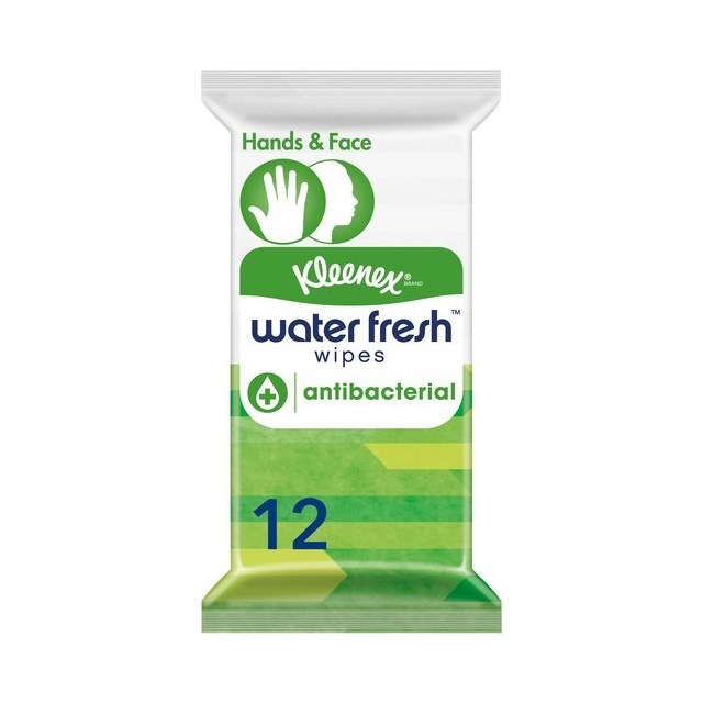 KLEENEX HYGIENIC WATERFRESH CLEANSING WIPES