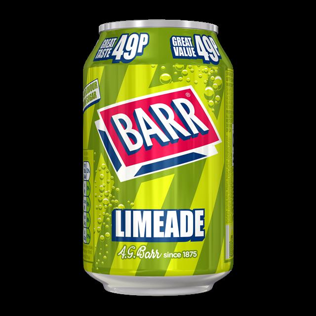 BARRS 49P LIMEADE 330ml (24 PACK)