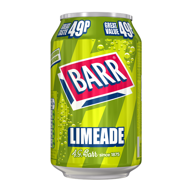 BARRS 49P LIMEADE 330ml (24 PACK)