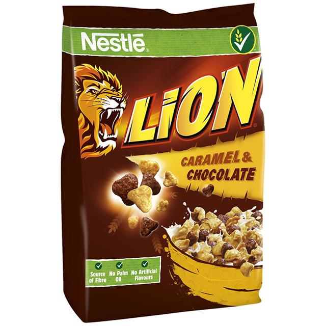 NESTLE LION CARAMEL & CHOCOLATE CEREAL 250G