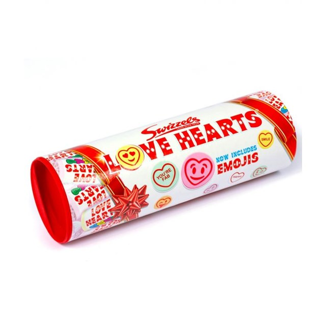 SWIZZELS GIFT TUBES LOVE HEARTS 108g