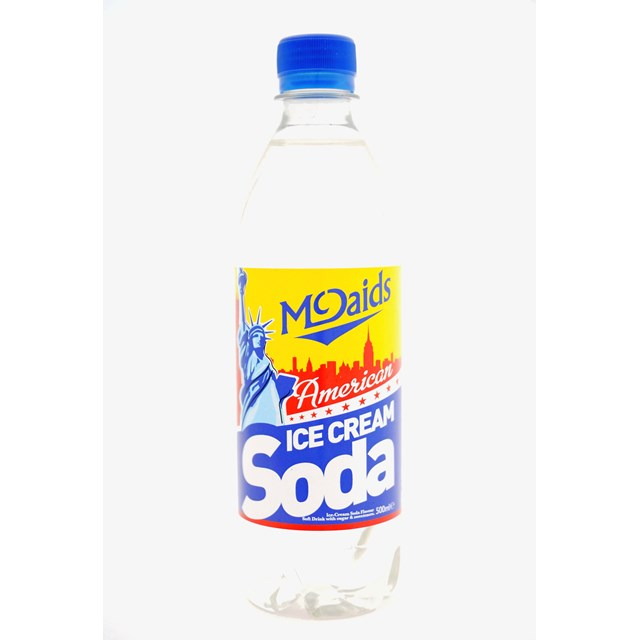 MCDAIDS AMERICAN CREAM SODA 500ml (24 PACK)