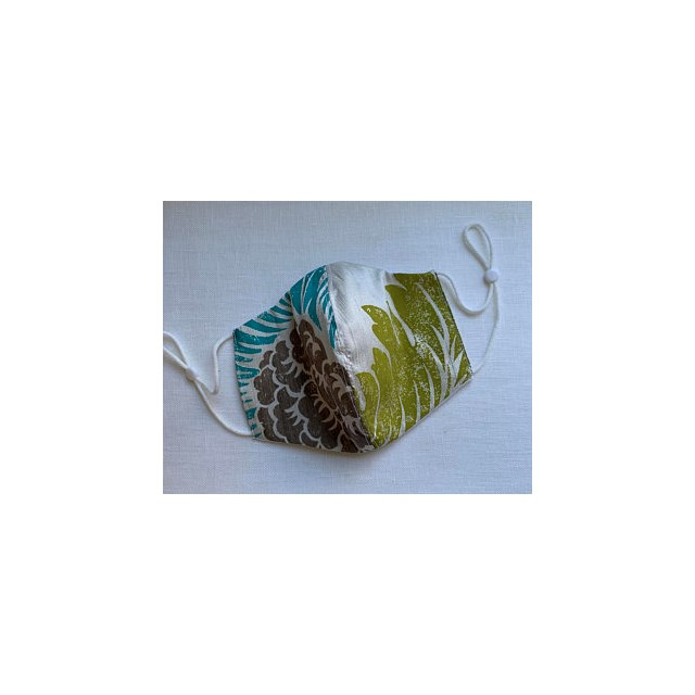 RAW SILK MADE in the UK FACEMASK FUNKY DESIGN RE-USABLE ADJUSTABLE