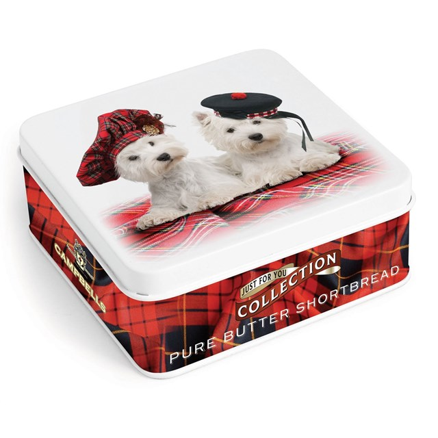 CAMPBELLS ALL BUTTER SHORTBREAD DOGS WITH TAMMIES TIN 90g