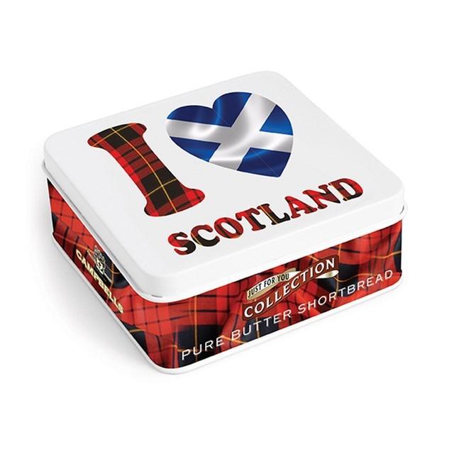 CAMPBELLS SHORTBREAD I LOVE SCOTLAND TIN