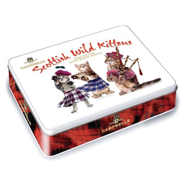 CAMPBELLS ALL BUTTER SHORTBREAD SCOTTISH WILD KITTENS TIN 150g