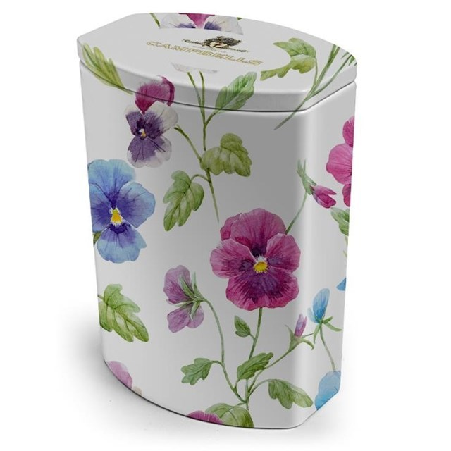 CAMPBELLS ALL BUTTER SHORTBREAD FLORAL COLLECTION PANSY TIN 120g