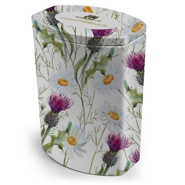 CAMPBELLS ALL BUTTER SHORTBREAD FLORAL COLLECTION THISTLE & DAISY TIN 120g