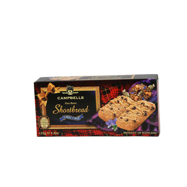 CAMPBELLS ALL BUTTER SHORTBREAD CHOCOLATE CHIP 125g (24 PACK)