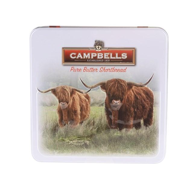 CAMPBELLS ALL BUTTER SHORTBREAD HIGHLAND COW TIN 200G