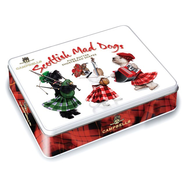 CAMPBELLS ALL BUTTER SHORTBREAD SCOTTISH MAD DOGS TIN 150g