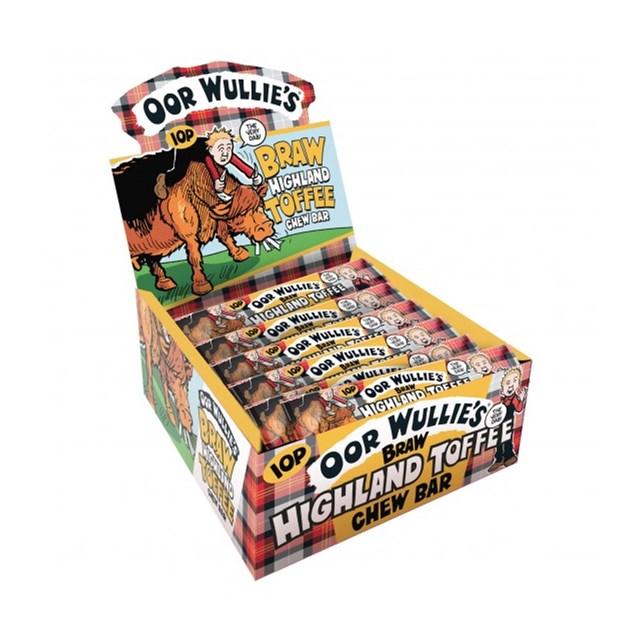 OOR WULLIE HIGHLAND TOFFEE BAR 11g (72 PACK)
