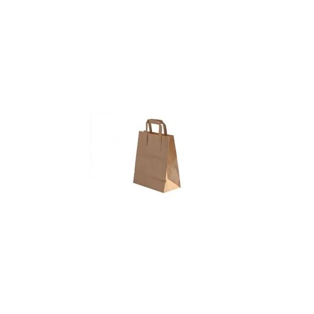 BROWN TAKEAWAY HANDLED BAGS