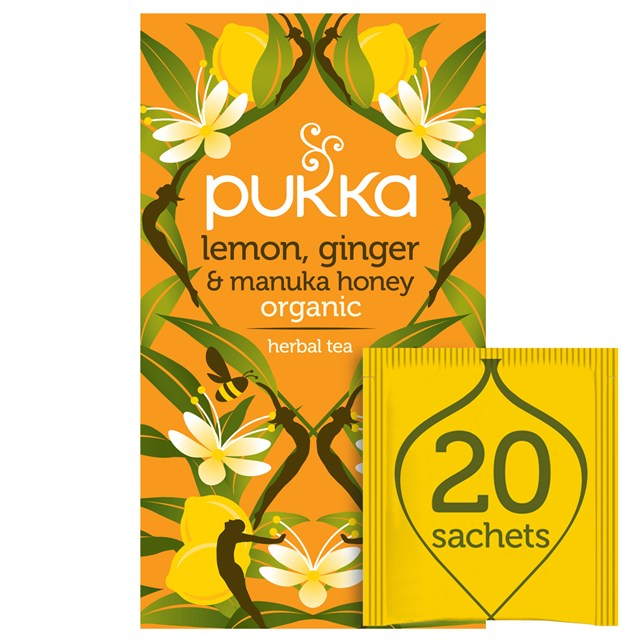 PUKKA LEMON,GINGER & MANUKA HONEY TEA