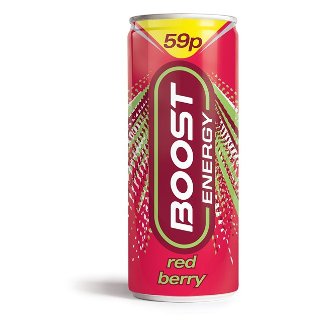BOOST ENERGY DRINK RED BERRY 59P