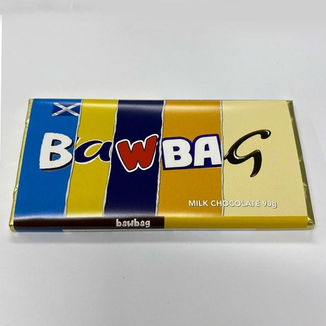 RUDE WRAPPERS MILK CHOCOLATE BAWBAG 90g