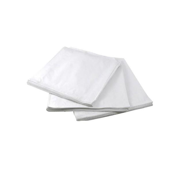 "WHITE PAPER BAGS 7"" x  7"""